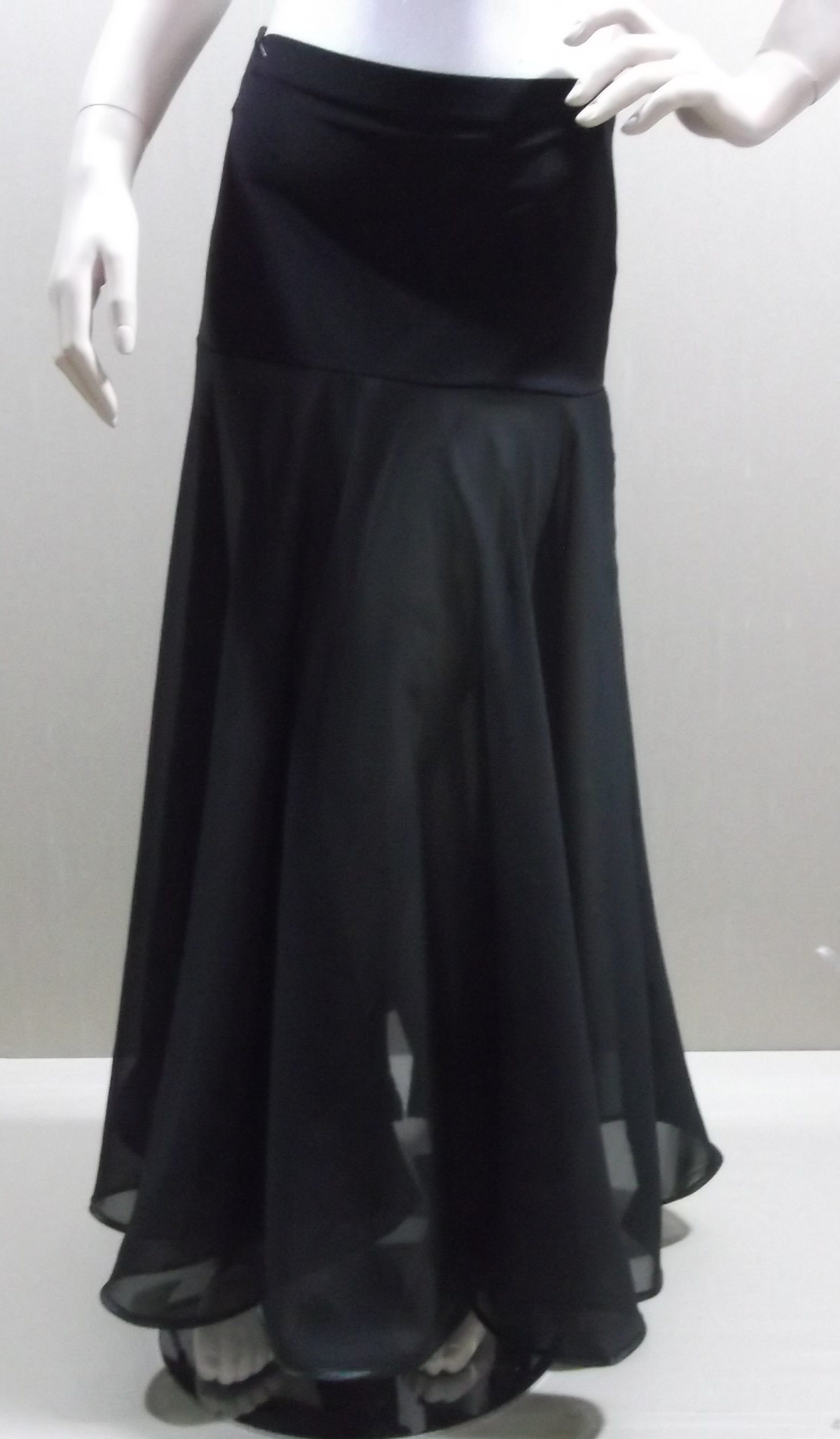 Длинная юбка двухслойная